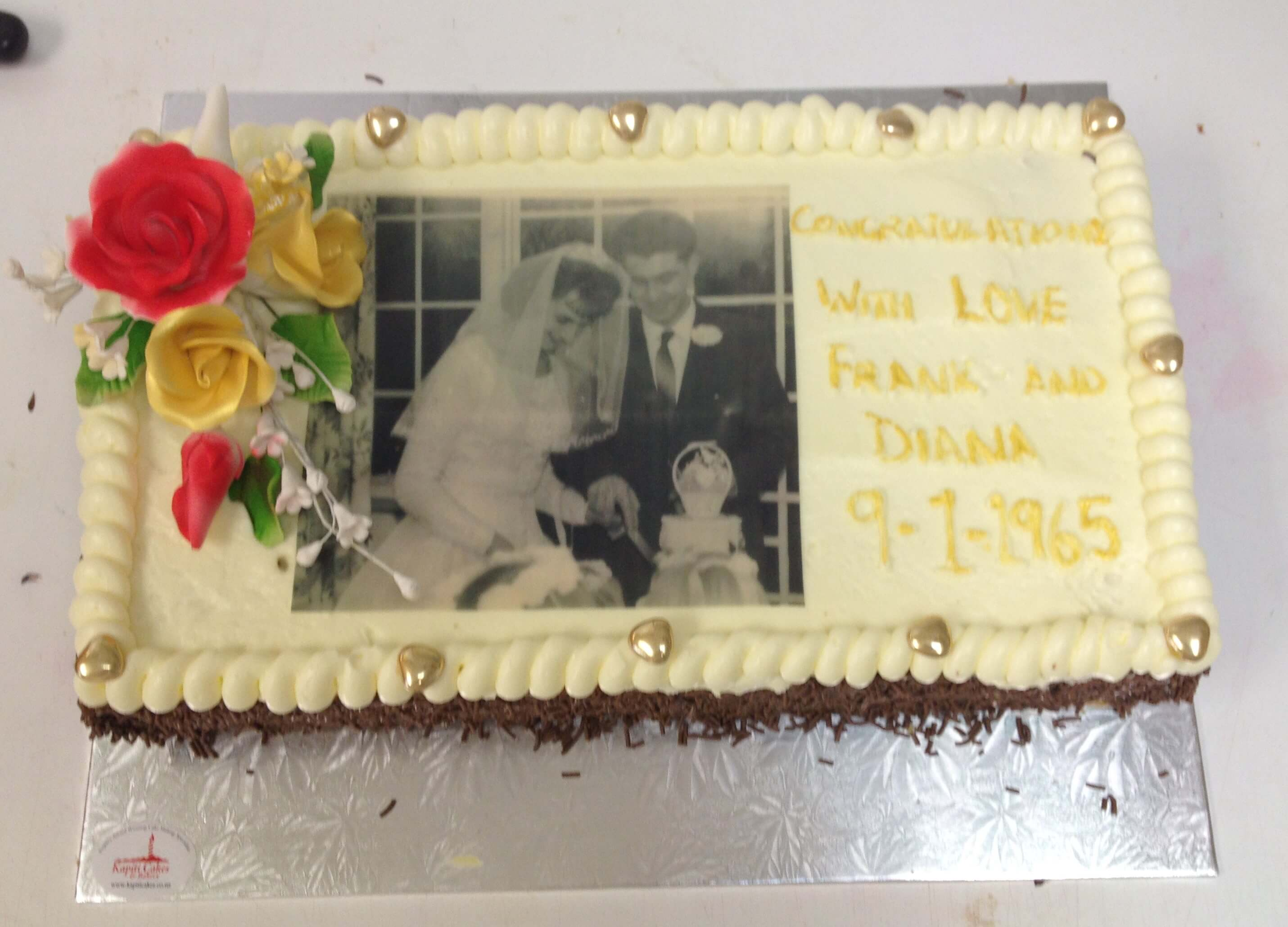 Wedding chocolate cake