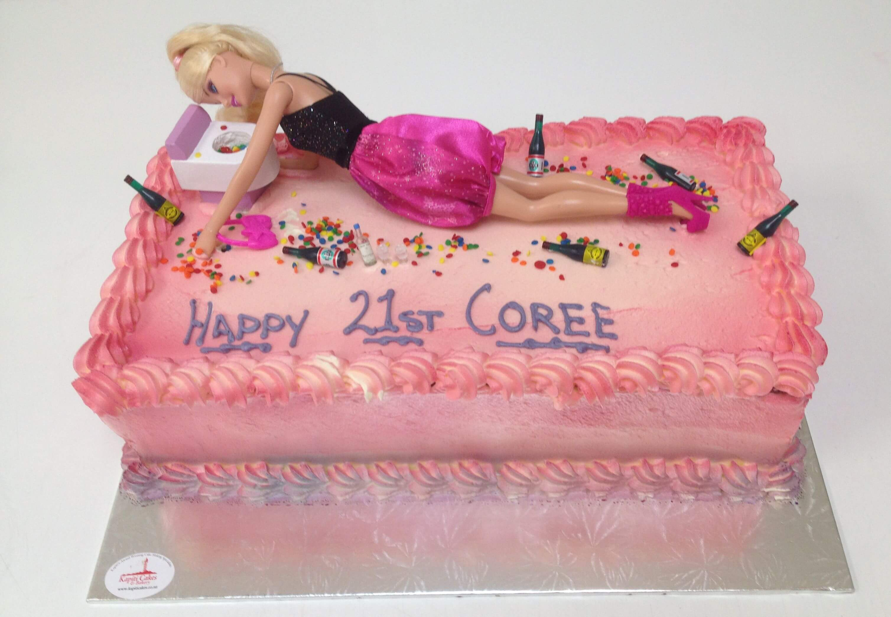A girls 21 celebration Cake