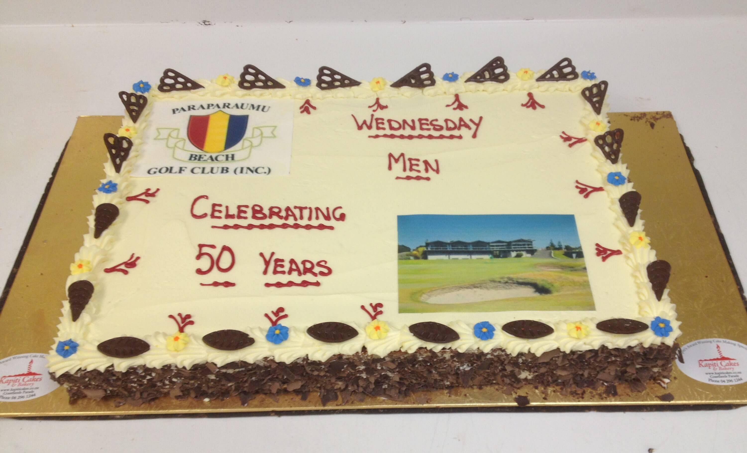 Paraparaumu beach golf club inc celebrations cake