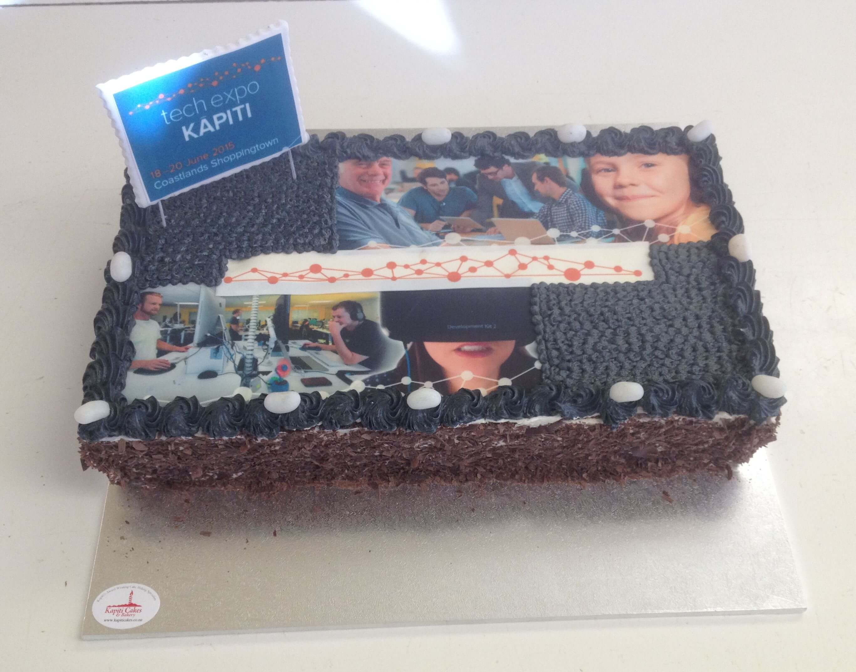 chocolate Tech expo celebrations cake